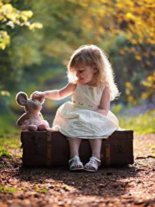 Hintergrundbilder Kleine Mädchen Sitzend Koffer Kinder