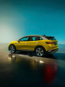 Hintergrundbilder Volkswagen Crossover Metallisch ID.4 X 1st, China, 2020 Autos