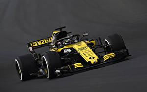 Hintergrundbilder Renault Formula 1 Grauer Hintergrund 2018 R.S.18 auto Sport