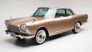 Fotos Antik Nissan Grauer Hintergrund Metallisch 1961-63 Prince Skyline Sports Coupe Michelotti Autos