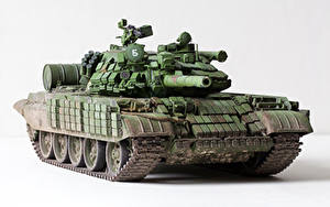 Bilder Panzer Spielzeuge Russischer Weißer hintergrund T-55 AMV Militär