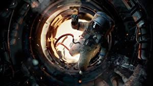 Bilder Astronauten Russisches UdSSR Salyut-7 Film