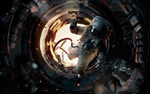 壁纸、、宇宙飛行士、ロシアの、ソ連、Salyut-7、映画