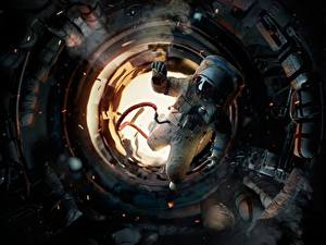 Bilder Astronauten Russische Sowjetunion Salyut-7 Film