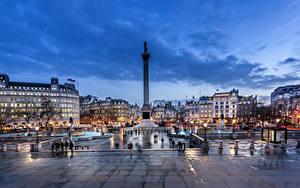 Bilder England Haus Abend Denkmal London Platz Straßenlaterne