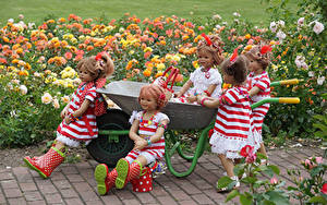 Bilder Park Rosen Puppe Kleine Mädchen Kleid Stiefel Grugapark Essen
