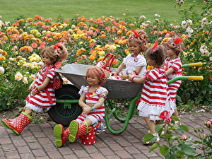 Fonds d'écran Parc Rosiers Poupée Petites filles Les robes Botte Grugapark Essen
