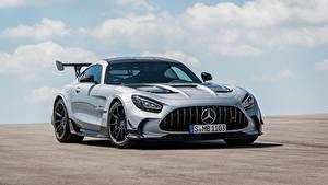 Hintergrundbilder Mercedes-Benz Coupe Silber Farbe Metallisch GT Black Series, Worldwide, C190, 2020 auto