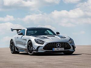 Hintergrundbilder Mercedes-Benz Coupe Silber Farbe Metallisch GT Black Series, Worldwide, C190, 2020