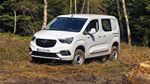 Fotos Opel Ein Van Weiß  automobil