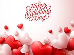 Papéis de parede Dia dos Namorados Muitas Inglês Cor de fundo Coração