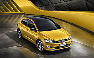 Images Volkswagen Yellow 2019 Polo Plus automobile