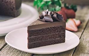 Hintergrundbilder Torte Schokolade Stück Teller