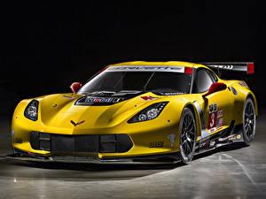 Hintergrundbilder Chevrolet Fahrzeugtuning Gelb 2014-19 Corvette C7.R GT2 automobil