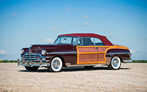 Pictures Chrysler Retro Burgundy Metallic 1949 Town
