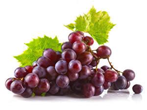 Bilder Weintraube Großansicht Weißer hintergrund