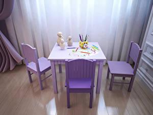Bilder Innenarchitektur Kinderzimmer Design Tisch Stühle Bleistift