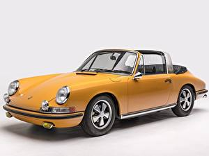 Hintergrundbilder Porsche Antik Gelb Porsche 911 S 2.0 Targa Sportomatic Autos