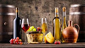 Hintergrundbilder Wein Weintraube Käse Flaschen Weinglas Weidenkorb Krüge