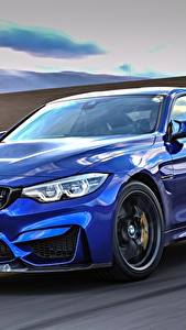 Bilder BMW Metallisch Bewegung Blau 2017 M4 CS Worldwide Autos