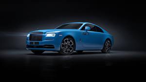 Fotos Rolls-Royce Grauer Hintergrund Hellblau 2019 Wraith Black Badge Autos