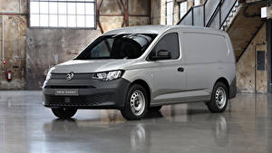Fondos de escritorio Volkswagen Gris Monovolumen 2020 Caddy Maxi Kasten Prototype Coches