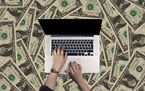 Image Fingers Clock Money Paper money Dollars Laptops Hands Business