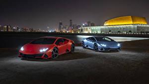 Hintergrundbilder Lamborghini 2 Nacht 2019 Huracan EVO