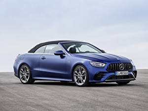 Bilder Mercedes-Benz Blau Metallisch Cabrio E 53 4MATIC, Cabrio Worldwide, A238, 2020 Autos