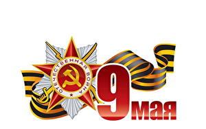 Papéis de parede Dia da Vitória 9 de maio Desenho vetorial Feriados Ordem medalha Russo Fundo branco