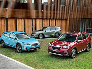 Desktop hintergrundbilder Subaru Drei 3 Crossover Metallisch 2018-20 Forester automobil