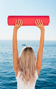 Hintergrundbilder Fitness Blond Mädchen Hinten Hand Yoga Mädchens