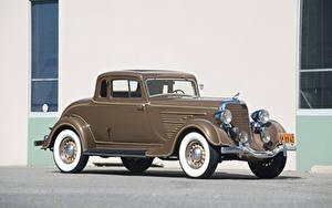 Wallpaper Dodge Retro Brown Coupe 1934 Deluxe Rumble Seat Coupe auto