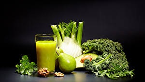 Image Juice Vegetables Pears Nuts Highball glass