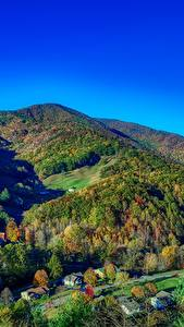 Wallpapers USA Mountains Forests Autumn Landscape photography Village North Carolina Nature