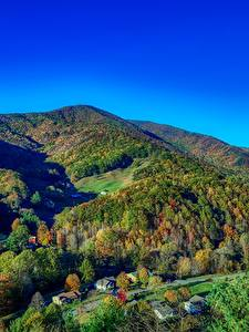 Hintergrundbilder Vereinigte Staaten Gebirge Wälder Herbst Landschaftsfotografie Dorf North Carolina