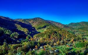 Hintergrundbilder Vereinigte Staaten Gebirge Wälder Herbst Landschaftsfotografie Dorf North Carolina Natur