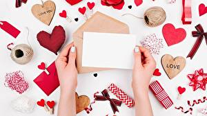 Bilder Valentinstag Brief Hand Herz Vorlage Grußkarte