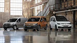 Hintergrundbilder Volkswagen Drei 3 Ein Van 2020 Caddy Autos