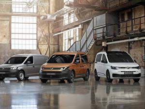 Hintergrundbilder Volkswagen Drei 3 Ein Van 2020 Caddy