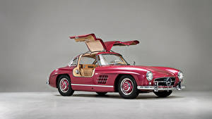 Fotos Mercedes-Benz Retro Rosa Farbe Metallisch 1956 300 SL Autos