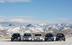 Bureaubladachtergronden BMW Berg Vooraanzicht Auto