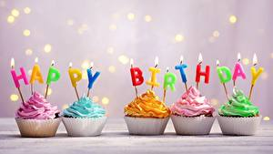 Hintergrundbilder Cupcake Geburtstag Kerzen Flamme Englischer