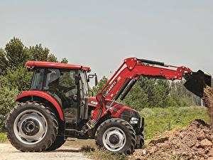 Hintergrundbilder Radlader Traktor 2013-19 Case IH Farmall 110JX