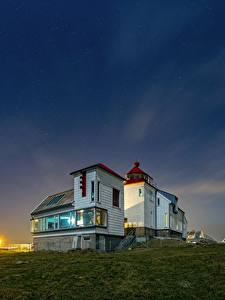 Bilder Leuchtturm Norwegen Kvassheim Lighthouse Natur
