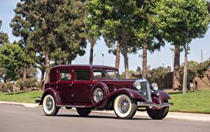 Wallpaper Chrysler Vintage Burgundy 1933 Custom Imperial Sedan by LeBaron
