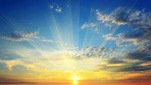 Fotos Sonnenaufgänge und Sonnenuntergänge Himmel Wolke Sonne Lichtstrahl