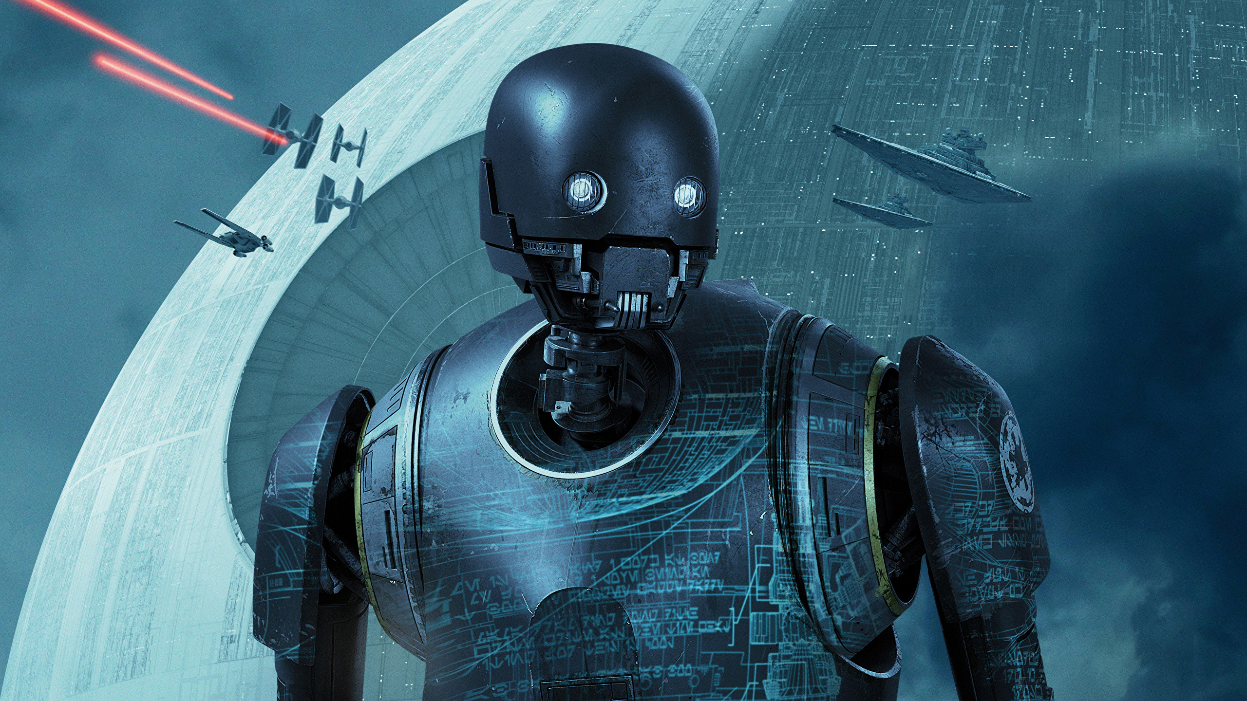 Wallpaper Rogue One A Star Wars Story Robot K 2so Movies 2560x1440