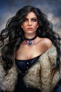 Hintergrundbilder The Witcher 3: Wild Hunt Haar Brünette Yennefer Spiele