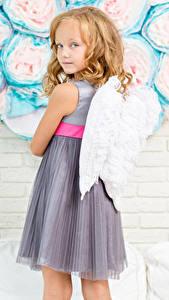 Fonds d'écran Ange Mur Petites filles Aile Voir Les robes Enfants